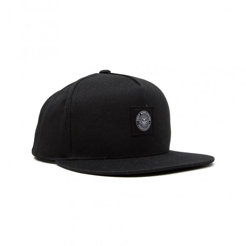 Obey Downtown Snapback Cap (Black) - Consortium. c02c02dc2e95