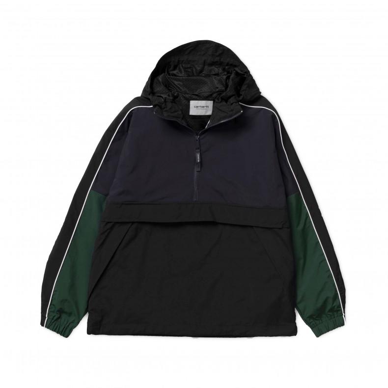 21a885e5ce114 Carhartt Terrace Pullover Half Zip Jacket (Dark Navy Black Bottle ...
