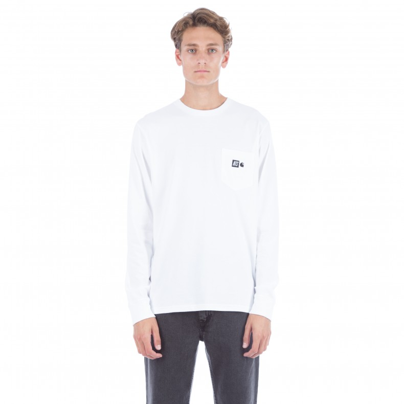 Carhartt wip x nts radio cube logo long sleeve t shirt for Carhartt long sleeve t shirts white