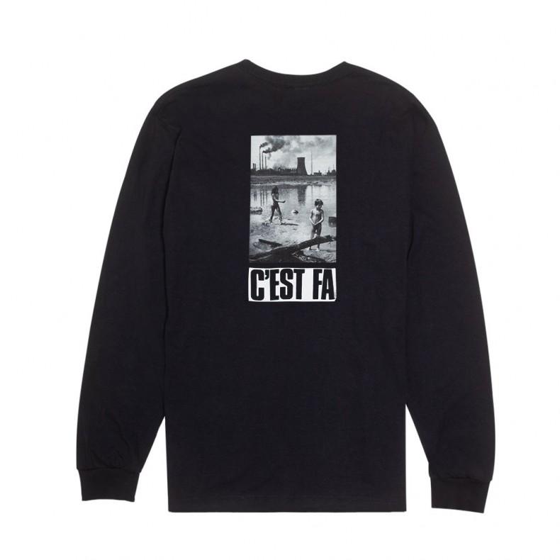 351013b38 Fucking Awesome C'EST FA Long Sleeve T-Shirt (Black) - FA0225 BLK ...