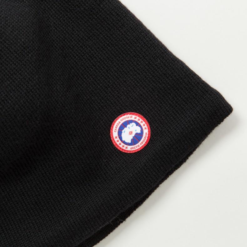 1a9e943cde6 Canada Goose Merino Wool Beanie (Black) - Consortium.
