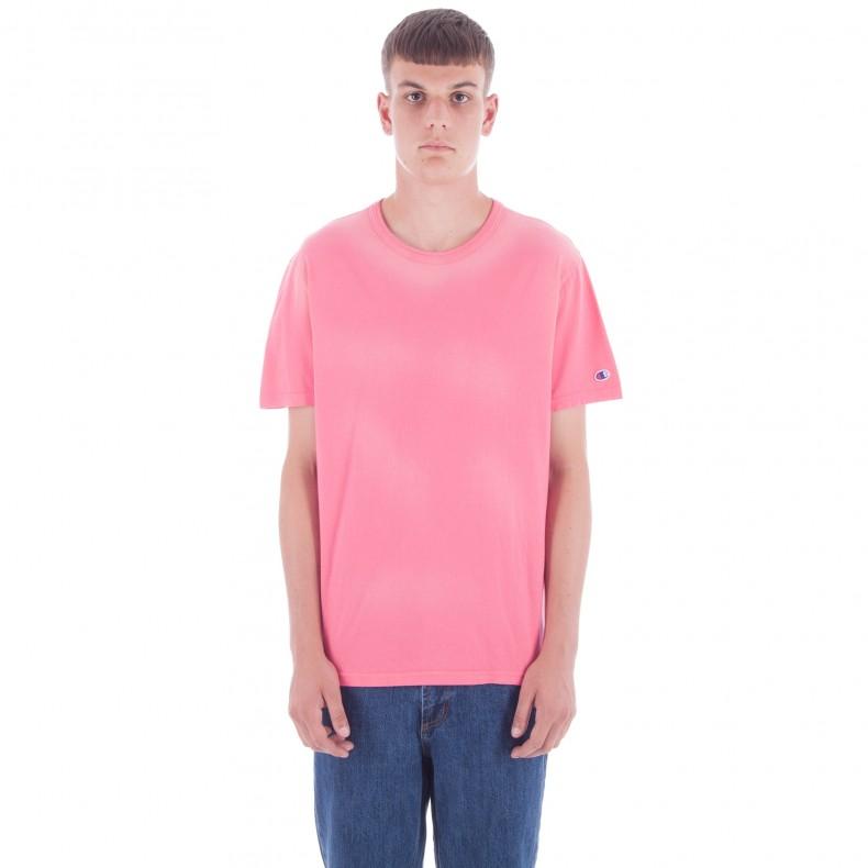 75bb12ed Champion Reverse Weave Crew Neck T-Shirt (Pink) - Consortium.