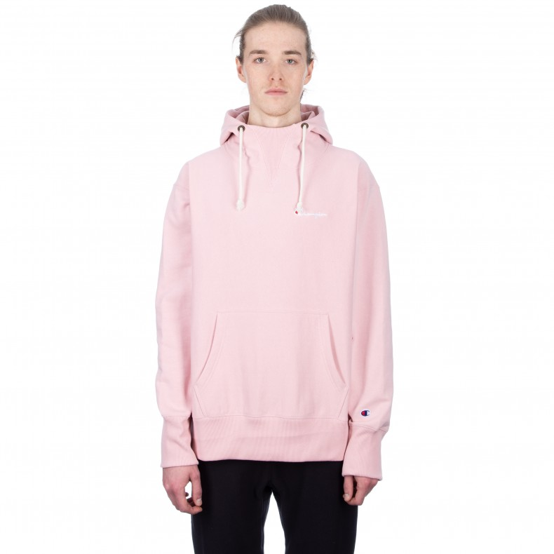 3abf3b578434 Champion Reverse Weave Deconstructed Pullover Hooded Sweatshirt (Pink) -  Consortium.