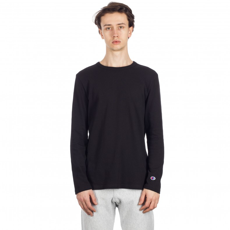 48bcff4a Champion Reverse Weave Long Sleeve T-Shirt (Black) - Consortium.