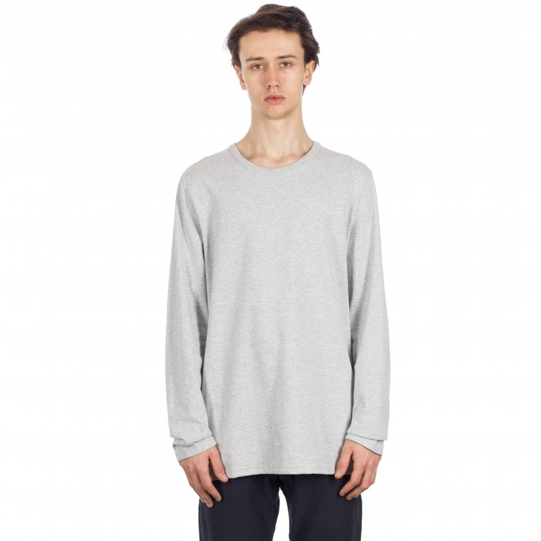 fc496b70 Champion Reverse Weave Long Sleeve T-Shirt (Light Oxford Grey) - Consortium.