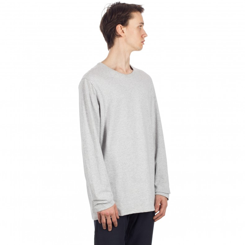 7e7b97d7 Champion Reverse Weave Long Sleeve T-Shirt (Light Oxford Grey ...