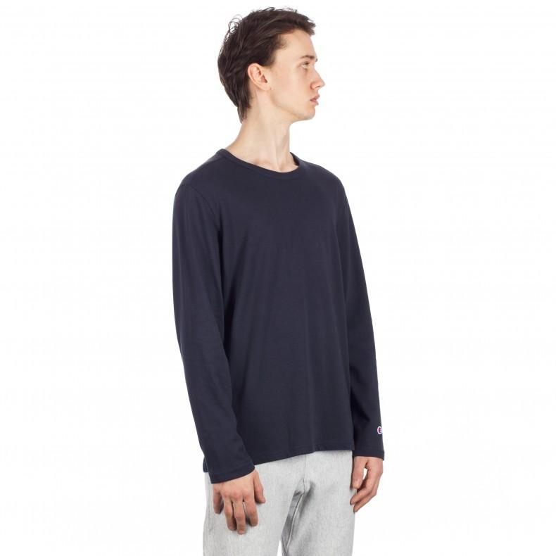 ff005c2b Champion Reverse Weave Long Sleeve T-Shirt (Navy) - Consortium.