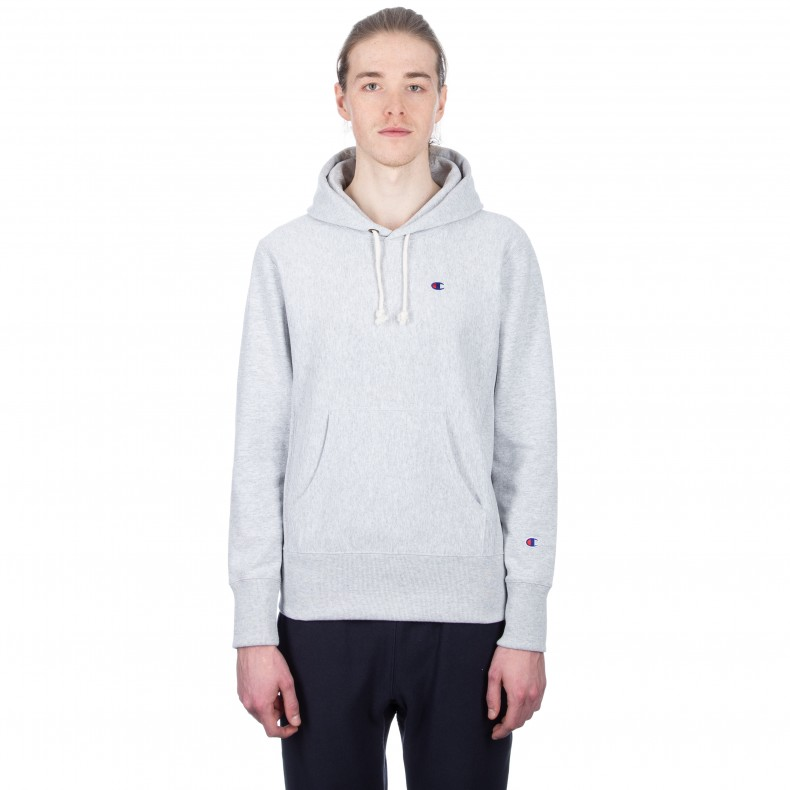 347ab96e9926 Champion Reverse Weave Pullover Hooded Sweatshirt (Light Oxford Grey) -  Consortium.