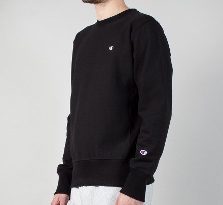 Neck Champion C Small Crew Sweatshirtblack Weave Reverse K1l3TcFJ