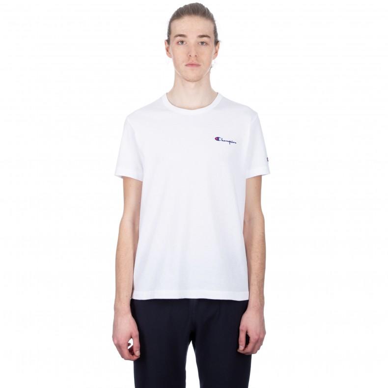 78c9fdd7 Champion Reverse Weave Small Script Crew Neck T-Shirt (White) - Consortium.