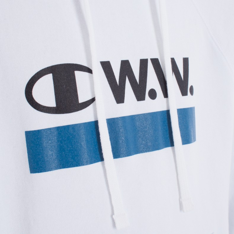 2ccd4ef70cbc Champion x Wood Wood Judd Pullover Hooded Sweatshirt (Bright White ...