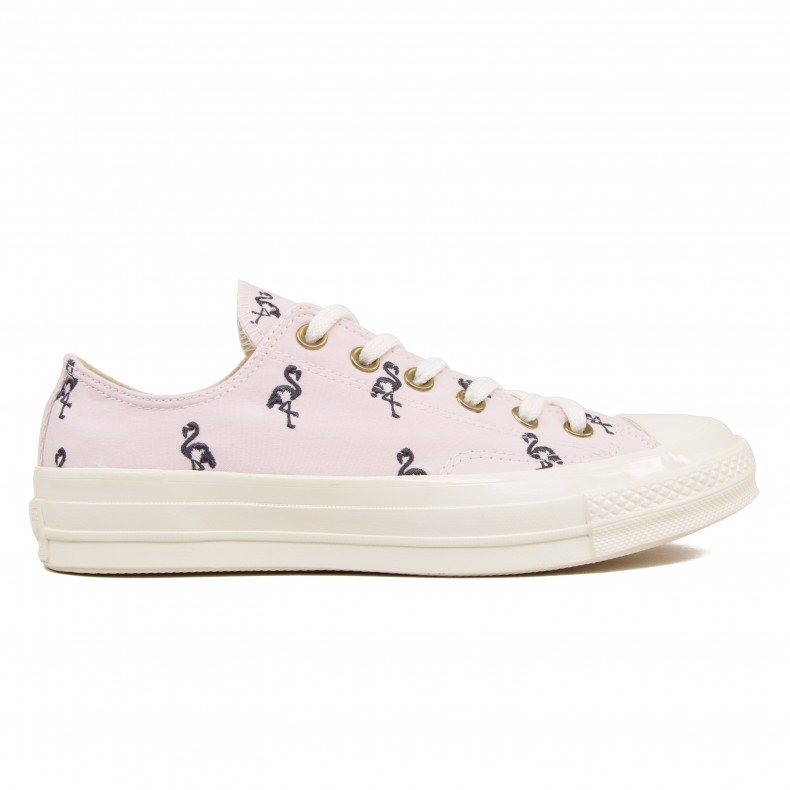 half off 67386 2ae26 Converse All Star Chuck Taylor 70 OX Prep Embroidery (Barely Rose/Almost  Black/Egret) - Consortium.