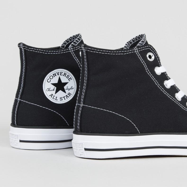 145fdddbdab655 Converse Cons CTAS Pro Hi (Black Black White) - Consortium.