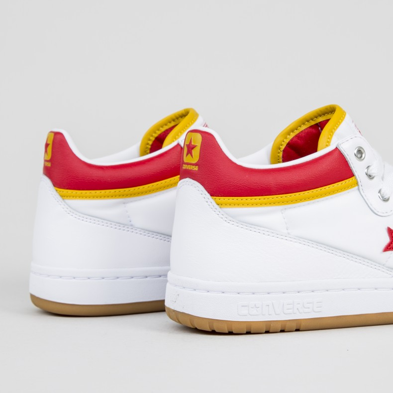 d7c0ce9cf8e4 Converse Cons Fastbreak Pro Mid (White Enamel Red Mineral Yellow ...