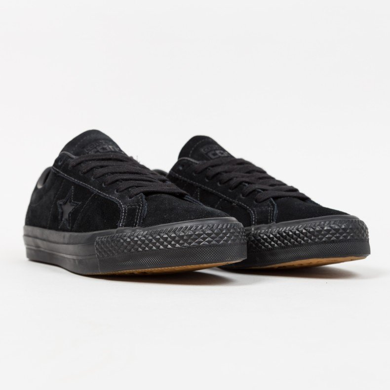 converse one star all black