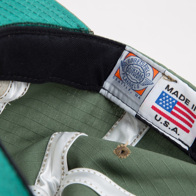 6699d8464 Ebbets Field Flannels Rip-Stop Adjustable 6 Panel Strap Back Ballcap ...