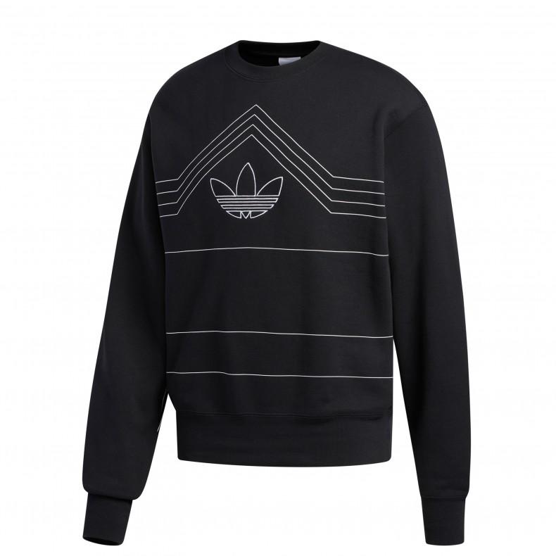 64871b624ea adidas Originals Rivalry Crew Neck Sweatshirt (Black/White)