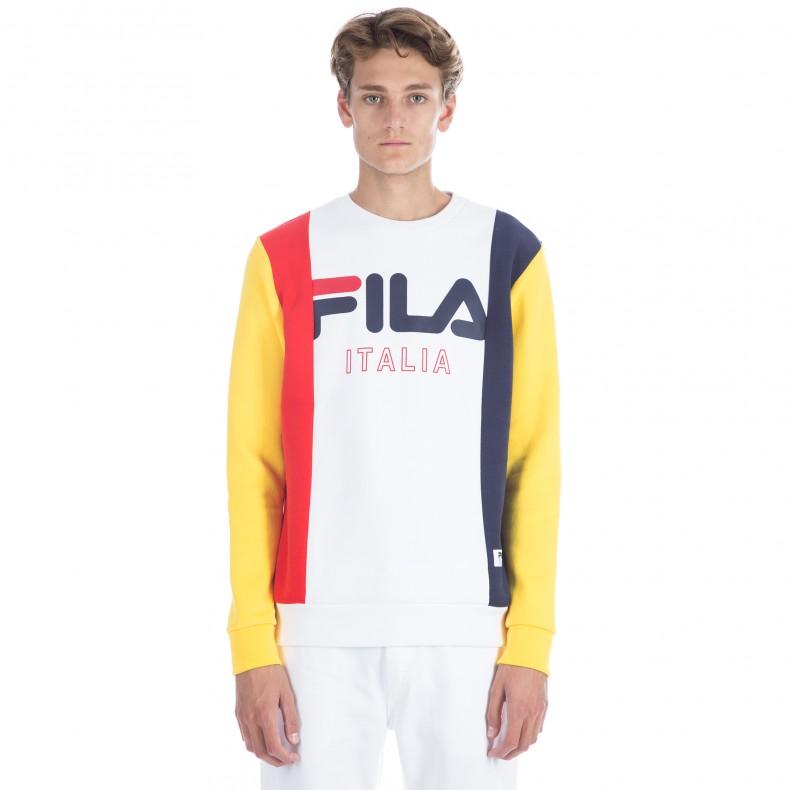 993c0912312a FILA Black Line Lorenzo Crew Neck Sweatshirt (White) - Consortium.