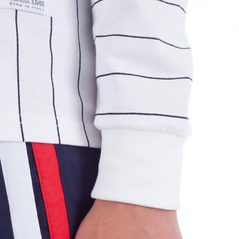 f238501ead5 FILA Black Line Mario Stripe Long Sleeve T-Shirt (White) - Consortium.