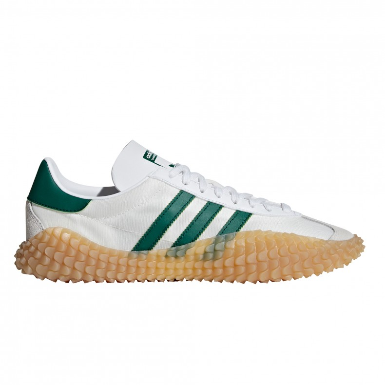 cheap for discount 4a3fc b2393 adidas Originals Country x Kamanda Never Made. (Cloud WhiteCollegiate  GreenGum ...