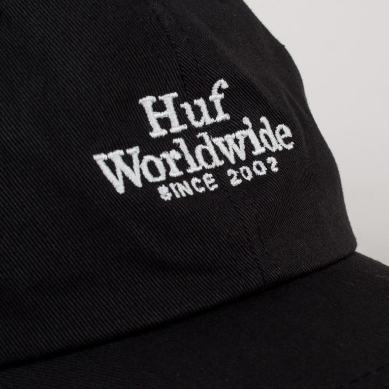 6d6147e06a5 HUF Worldwide UV Curved Brim Cap (Black) - Consortium.