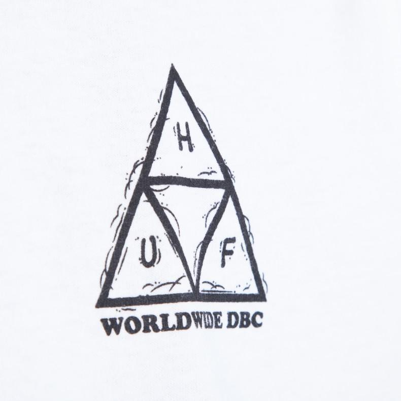 ba66cc4190fe10 HUF x Peanuts PigPen Triple Triangle T-Shirt (White) - Consortium.