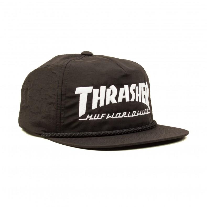 d4fa292c5e4 HUF X Thrasher Collab Logo Snapback (Black) - Consortium.