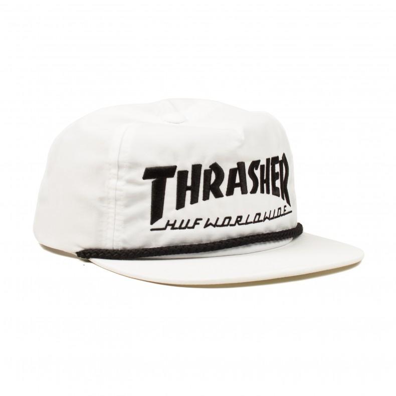 HUF X Thrasher Collab Logo Snapback (White) - Consortium. a661d158de96