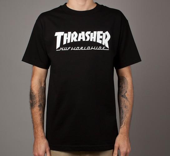 3b6d266dc5e6 HUF X Thrasher Tour T-Shirt (Black) - Consortium.