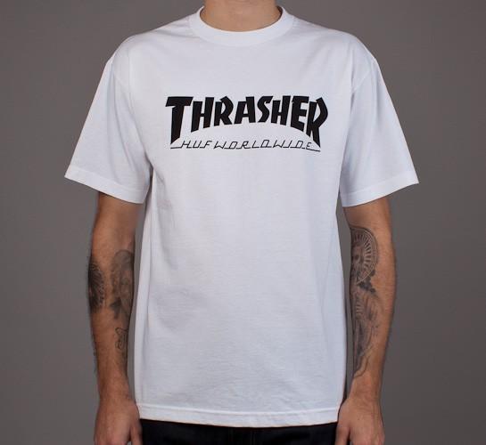 f093d8a486da HUF X Thrasher Tour T-Shirt (White) - Consortium.