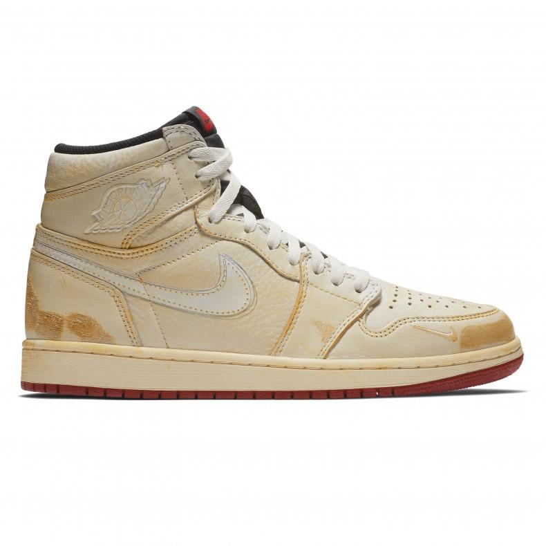 Jordan Brand Nike Air Jordan 1 High OG NRG  Nigel Sylvester   (Sail White-Varsity Red-Reflect Silver) - BV1803-106 - Consortium. 90d07afb03