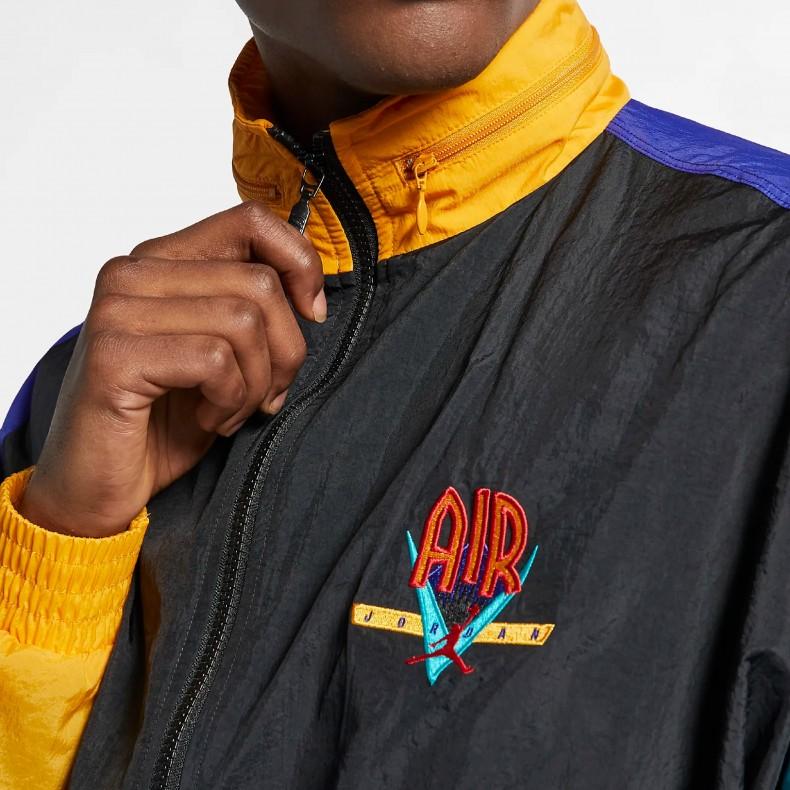 7a20d874228cf6 Jordan Brand Nike Jordan Legacy Flight Nostalgia AJ9 Loose Fit Jacket. ( Black Canyon Gold University ...