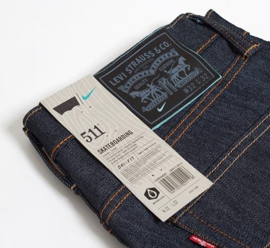 factory price 488a7 44343 Levi s X Nike SB 511 Skateboarding Jeans