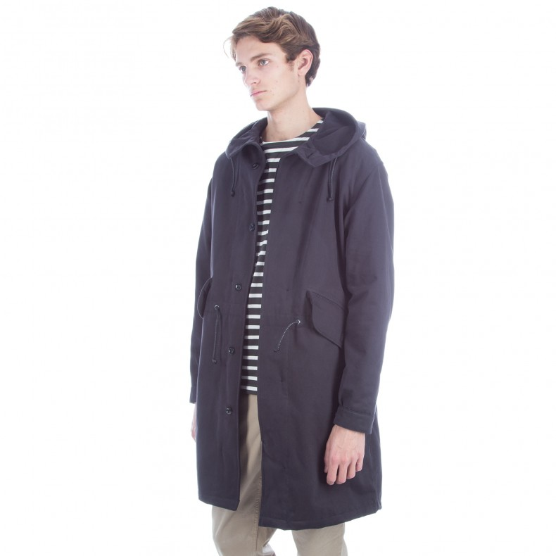MHL by Margaret Howell Fishtail Parka (Drill Navy) - Consortium.