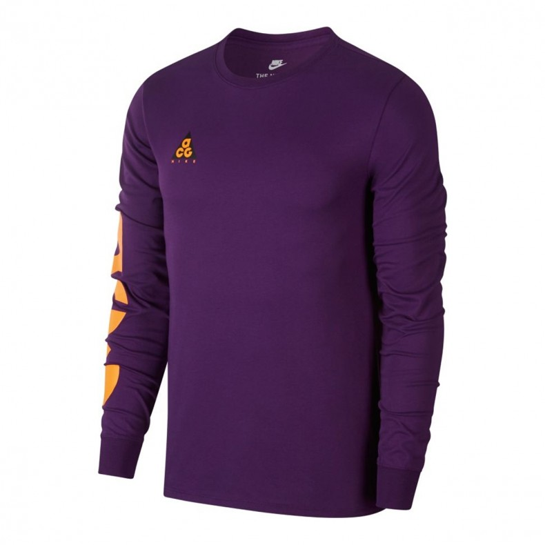 5668a3cf Nike ACG Sportswear Long Sleeve T-Shirt (Night Purple/Bright ...