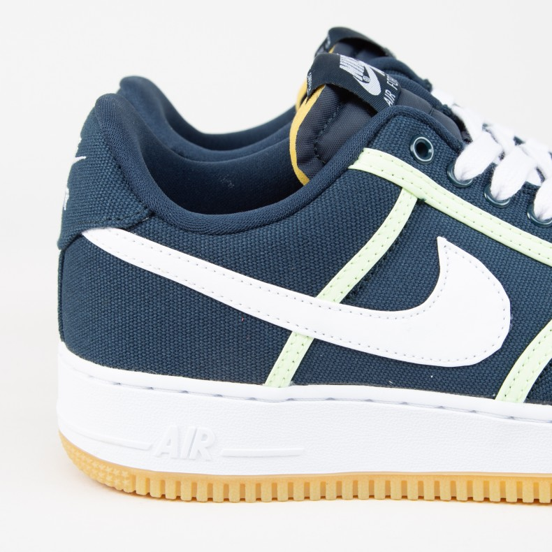 brand new 118bb 15ece Nike Air Force 1  07 Premium. (Armory Navy White-Barely Volt)