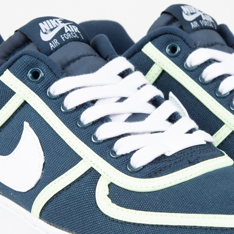 Nike Air Force 1 '07 Premium (Armory NavyWhite Barely Volt)