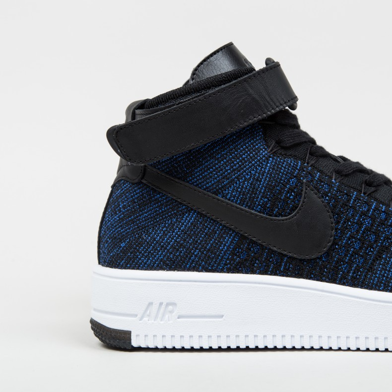timeless design aadbc 2a099 Nike Air Force 1 Ultra Flyknit Mid (Game Royal/Black-White ...