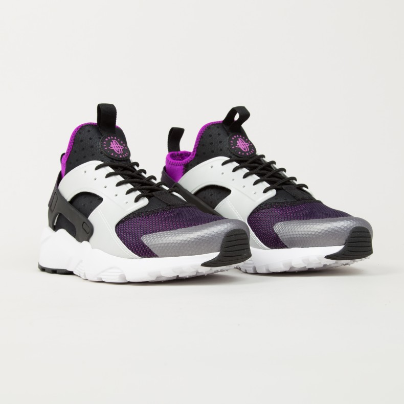 Nike Air Huarache Run Ultra (Black Wolf Grey-Hyper Volt-Purple Dynasty) -  Consortium. 1391657856