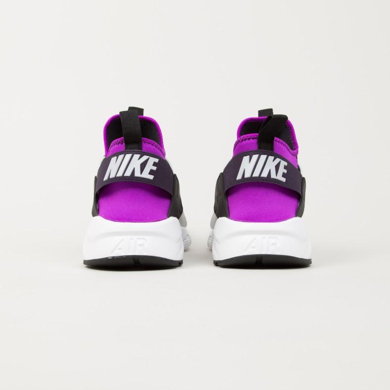half off 8b252 47d97 Nike Air Huarache Run Ultra. (Black Wolf Grey-Hyper Volt-Purple ...