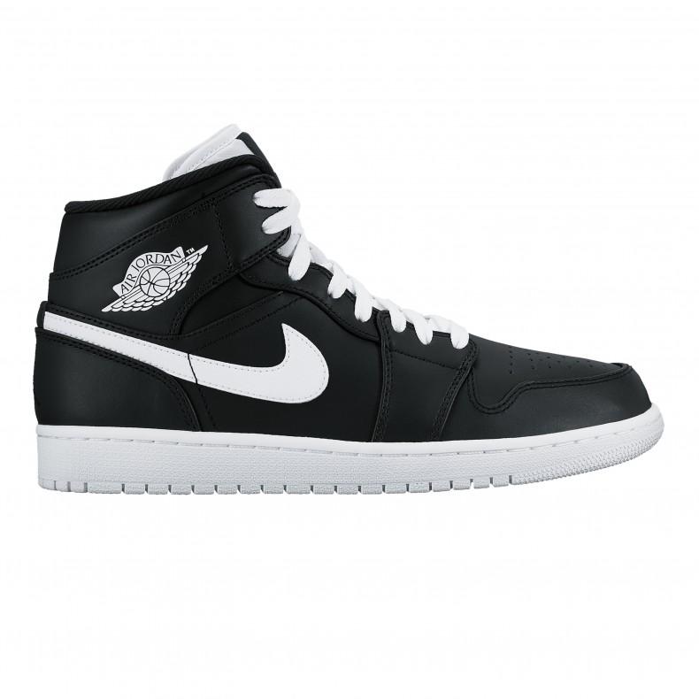 74fcc15a5f1 Nike Air Jordan 1 Mid (Black White-White) - Consortium.