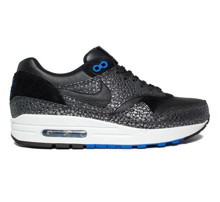 size 40 fbb3b ff473 Nike Air Max 1 Deluxe (Black/Black-Hyper Cobalt) - Consortium