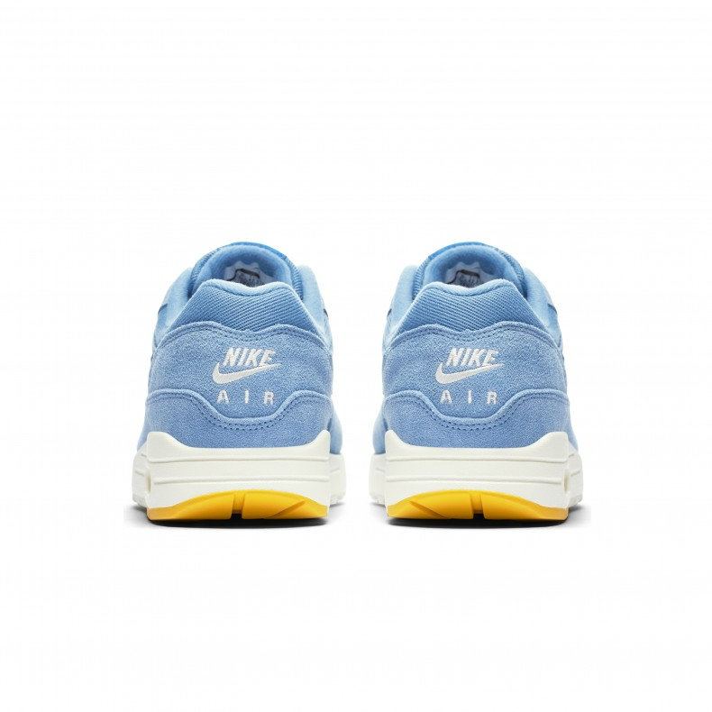 Nike Air Max 1 Premium  Mini Swoosh Blue  (Work Blue Mountain Blue ... edca83a95