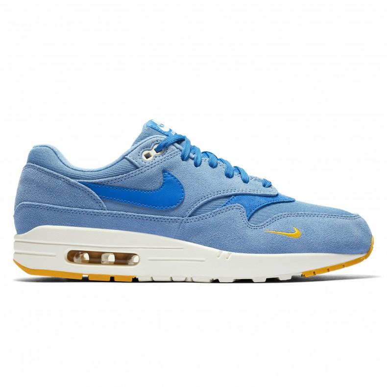 ea74fd953c Nike Air Max 1 Premium 'Mini Swoosh Blue' (Work Blue/Mountain Blue-Yellow  Ochre) - 875844-404 - Consortium.