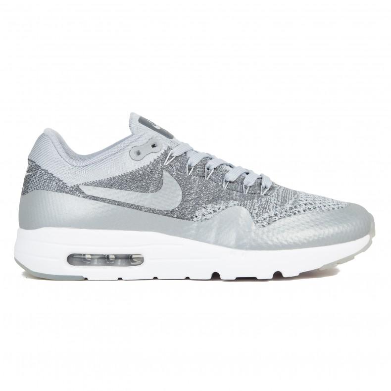 9c57d5d0eed Nike Air Max 1 Ultra Flyknit (Wolf Grey Wolf Grey-Dark Grey-White ...