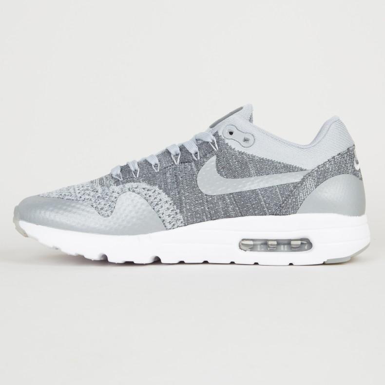 Nike Air Max 1 Ultra Flyknit (Wolf GreyWolf Grey Dark Grey