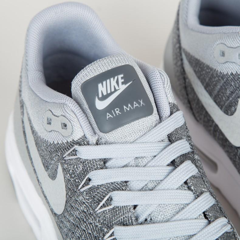 74f87963958 Nike Air Max 1 Ultra Flyknit (Wolf Grey Wolf Grey-Dark Grey-White) -  Consortium
