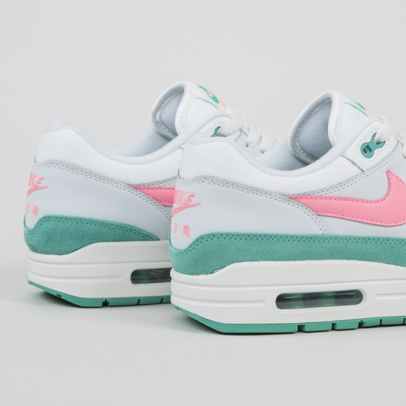 the latest 515b5 a13e4 Nike Air Max 1  Watermelon . (Summit White Sunset Pulse-Kinetic Green)