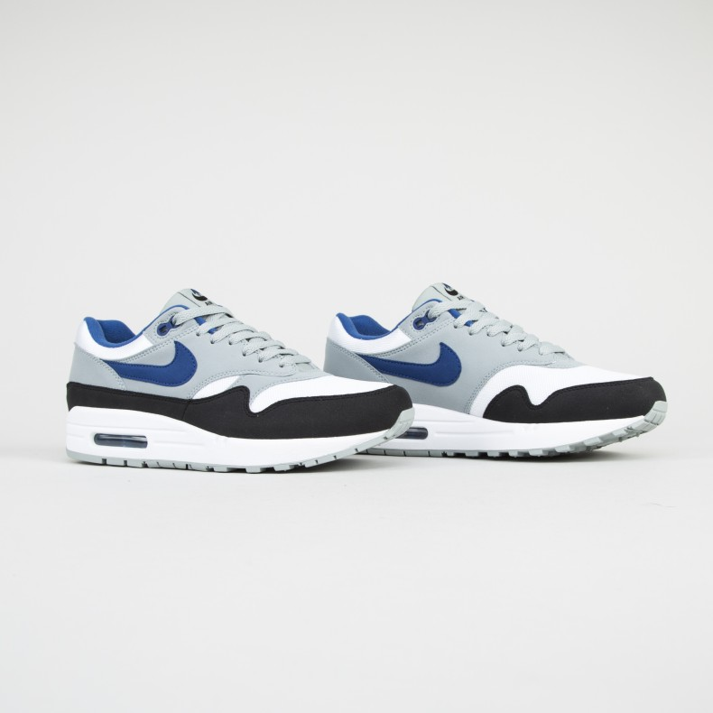 competitive price 2d3be 0a252 Nike Air Max 1 (WhiteGym Blue-Light Pumice-Black) - Consorti
