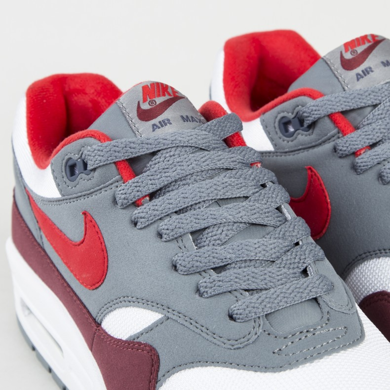 7ad9a60151 Nike Air Max 1 (White/University Red-Cool Grey-Team Red) - Consortium.